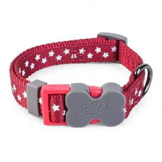WalkAbout Starry Burgundy Dog Collar - S