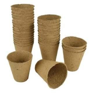 Fibre Pots 8cm 12pk
