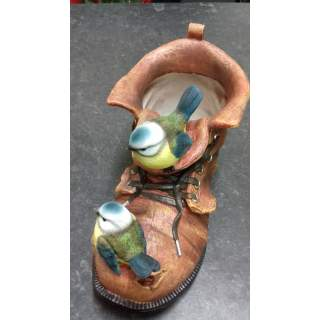 Blue Tit Boot Planter