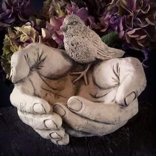 Bird Hand Feeder Stone